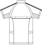 SMS603 アディダスメンズジャケット半袖バックスタイル