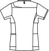MO-CHM854 アシックスレディスジャケット半袖バックスタイルイラスト