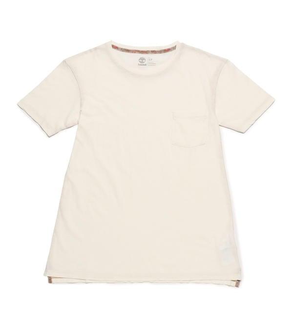 ティンバーランドのレディース半袖グラフィックTシャツ白