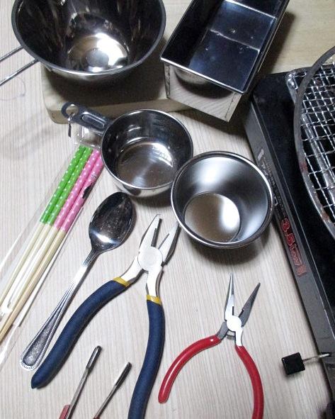 ビスマス結晶作り道具