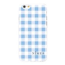 NIMES×リンネルコラボiPhoneケース/ギンガムチェック(サックス)
