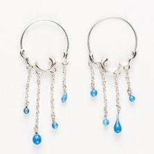ileava jewelry/雨のフープピアス(小)
