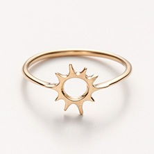 ileava jewelry/太陽の18金リング