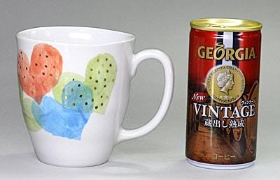 大東アリン マグカップ 大きさ比較