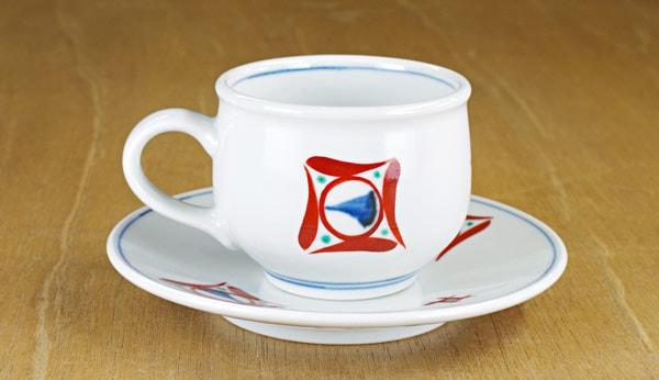 砥部焼き 梅山窯 コーヒーカップ&ソーサー