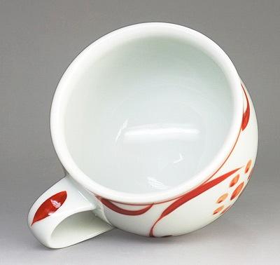 砥部焼のカップ(朱太陽文)