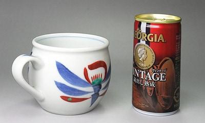 砥部焼 梅山窯 モーニングカップ 大きさ比較