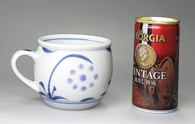 砥部焼 モーニングカップ 大きさ比較