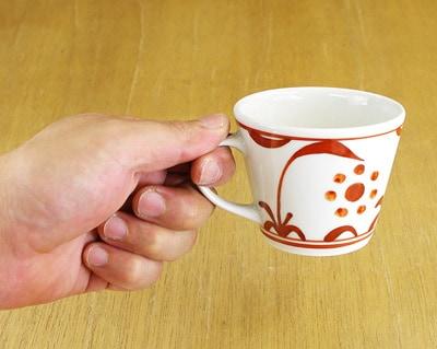 コーヒーカップ 持ったところ