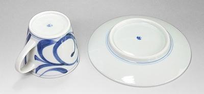 砥部焼 梅山窯 コーヒー碗皿