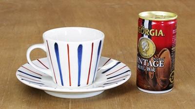 そばちょこ型コーヒーカップ 大きさ比較