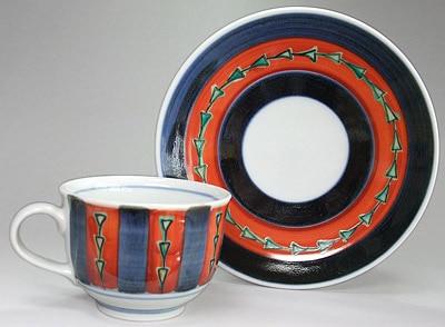 砥部焼 梅山窯のコーヒーカップ