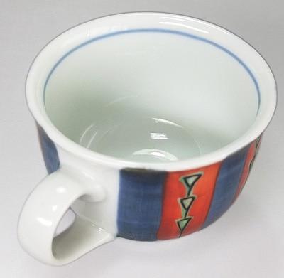 梅山窯 色絵のコーヒーカップ