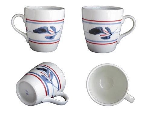 砥部焼、梅山窯さんの切立ミルクカップ。