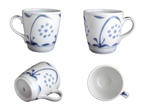 砥部焼、梅山窯さんのミルクカップ
