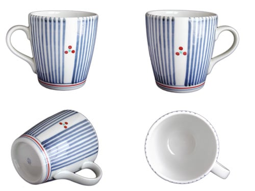 砥部焼梅山窯の切立ミルクカップ