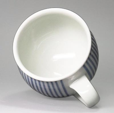 砥部焼 梅山窯 丸ミルクカップ