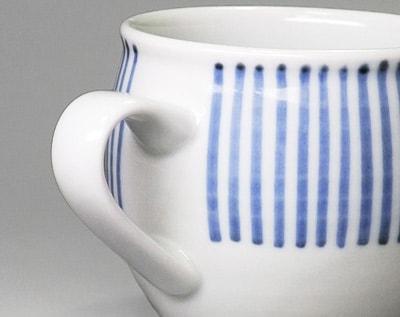砥部焼 十草文のミルクカップ