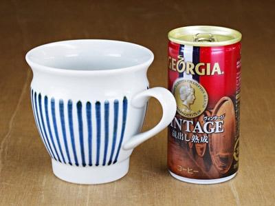 梅山 反りミルクカップ 大きさ比較