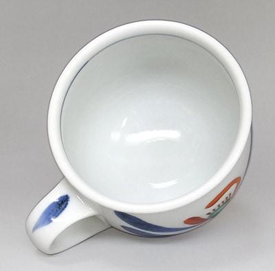 梅山窯の丸ミルクカップ