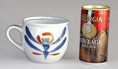 砥部焼 丸ミルクカップ 大きさ比較