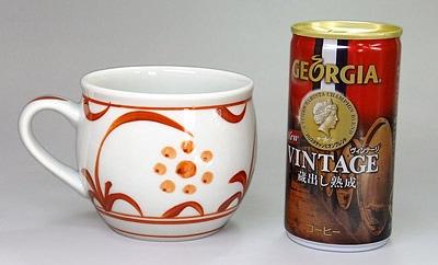 砥部焼 丸いマグカップ 大きさ比較