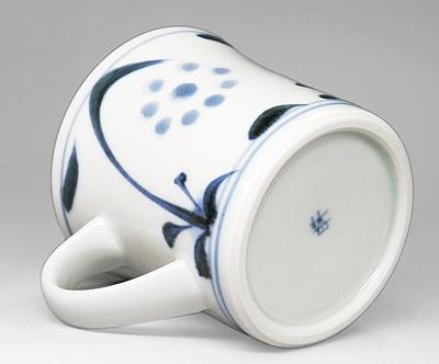 梅山窯 反りマグカップ 太陽文