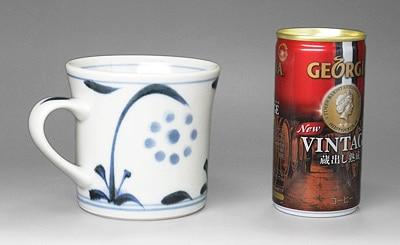 砥部焼 梅山窯 マグカップ 大きさ比較