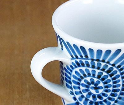砥部焼 梅山窯 反りマグカップ