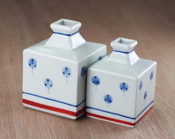砥部焼 梅山窯 大、小 花瓶