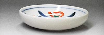 砥部焼、梅山窯の小皿