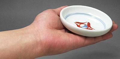 砥部焼 梅山窯 3.5寸切立小皿