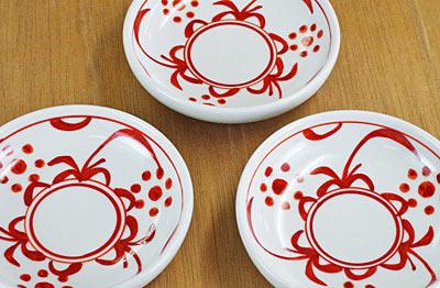 砥部焼き 小皿 手描き