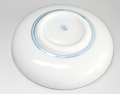 梅山窯 ひとつ唐草文の小皿