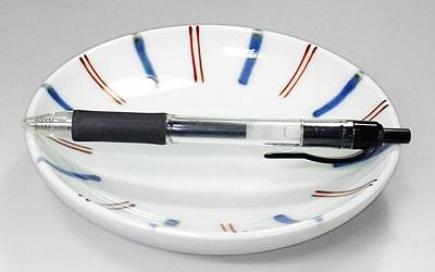 砥部焼 14�丸皿 大きさ比較