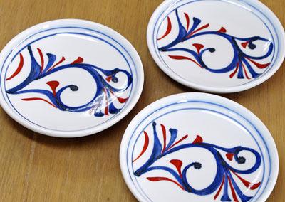 和食器 丸皿 手描き