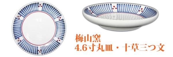 砥部焼の丸皿。取り皿サイズです。