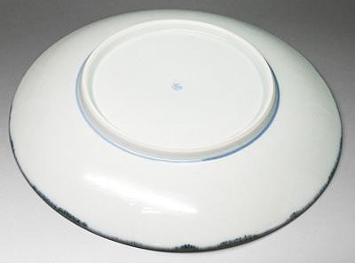 砥部焼、梅山窯の丸皿