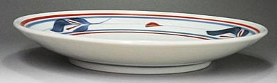 砥部焼、梅山窯の平皿