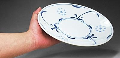 砥部焼 梅山窯 8寸丸皿(太陽文)
