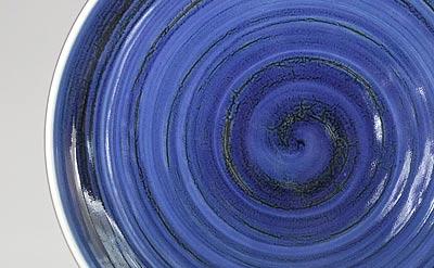 梅山窯 ゴス巻の大皿