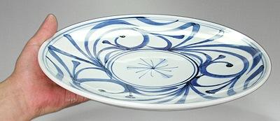 梅山窯 唐草文の大皿