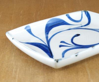 砥部焼 梅山窯 魚皿