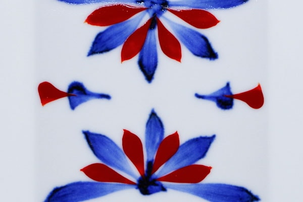砥部焼き 梅山窯 ごす赤菊