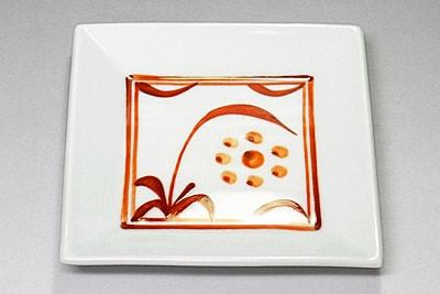 梅山窯 角銘々皿