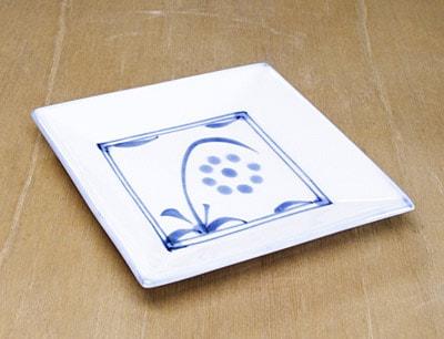 砥部焼き 角皿