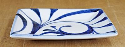 砥部焼き 梅山窯 角皿