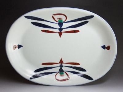 砥部焼、梅山窯さんの大皿。