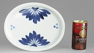砥部焼 楕円皿 大きさ比較