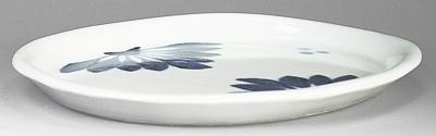 梅山窯 楕円皿